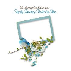 A beautiful shabby style cluster freebie from the Simply Amazing scrapbook collection.