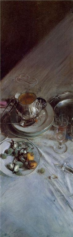 'Corner of the Painter's Table' (1890) by Italian painter Giovanni Boldini (1842-1931). via WikiPaintings