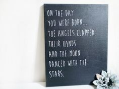 Baby Nursery Canvas, Baby Quotes & Sayings, Modern Baby Room Decor, 11 x 14, Baby Boy, Baby Girl, Twins Gifts, Baby Shower, New Baby