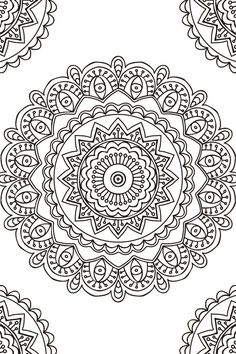 Mandala Doodles - Doodle Coloring Pages Mandala Art, Mandala Doodle, Colorful Mandala Tattoo, Mandalas Drawing, Mandala Coloring Pages, Mandala Pattern, Zentangle Patterns, Coloring Book Pages, Pointillism