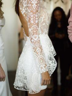(Rehearsal or reception) Backstage: Rime Arodaky (New York Bridal Week) - My Valentine Greg Finck Photo