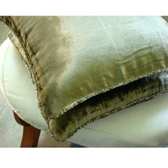 Decorative Throw Pillow Covers Accent Pillow Couch Pillow Sofa Pillow Olive Velvet Pillow Case with Bead Cord - Olive Shimmer Green Velvet Fabric, Green Velvet Pillow, Velvet Pillows, Velvet Curtains, Green Pillow Cases, Green Throw Pillows, Sofa Throw, Couch Cushion Covers, Cushions On Sofa