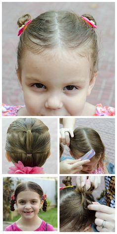 These fun and simply hairstyles for girls will keep your daughter looking adorable! They're super easy and much more fun than a ponytail! soon as Reagann gets some hairs! Simply Hairstyles, Super Cute Hairstyles, Easy To Do Hairstyles, Baby Girl Hairstyles, Toddler Hairstyles, Girl Hair Dos, Girly, Curly Hair Styles, Hair Beauty