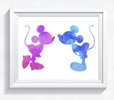 Check out this item in my Etsy shop https://www.etsy.com/listing/512989426/mickey-mouse-wall-art-minnie-watercolor
