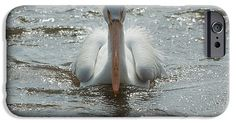 White Pelican IPhone 6s Case featuring the photograph Fuzzy Pelican by Heidi…