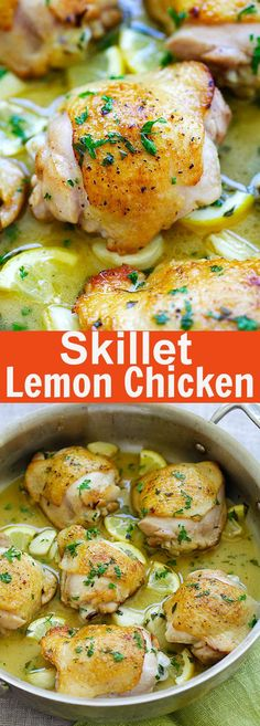 "Lemon Chicken ??? one pan chicken perfection in buttery lemon sauce. Easy lemon chicken recipe that is perfect for dinner | <a href=""http://rasamalaysia.com"" rel=""nofollow"" target=""_blank"">rasamalaysia.com</a>"