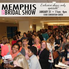 Show-only specials at the Winter 2016 Memphis Pink Bridal Show®, available exclusively to show attendees! | The Pink Bride® www.thepinkbride.com