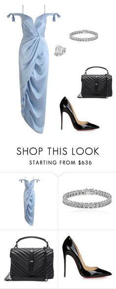"""""""day out"""" by adrianagonzalez-t on Polyvore featuring Zimmermann, Apples & Figs, Yves Saint Laurent, Christian Louboutin and Blue Nile"""