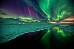 """Solar Storm Over Norway, Jan 23 2012. From """"Milky way scientists"""" Facebook Page, Album """"Northern Lights""""."""