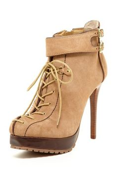 Two Lips Raven Lace-Up Lug Bootie