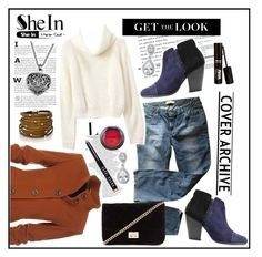 """""""SheIn - Turtleneck Crop Beige Sweater"""" by fashiontake-out ❤ liked on Polyvore featuring Levi's, rag & bone, Sif Jakobs Jewellery, Forever 21, NYX, Bobbi Brown Cosmetics, blazer, rippedjeans, crossbodybag and ankleboots"""