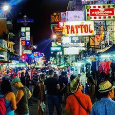 Khao San Road by night #Bangkok #Thailande