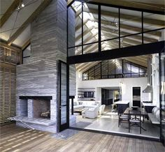 modern barn interior  Very airy not Crowded :)