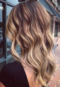 Warm balayage ombre. Great subtle color mix.