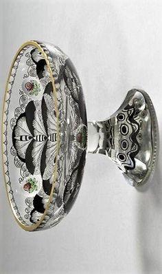 Entwurf: Glasfachschule Steinschönau, Adolf Beckert (Böhmen) Ausführung: Conrath; Liebsch Bohemia Glass, Barware, Glass Art, Bohemian, 1920, Berlin, Museum, Collection, Glass Material
