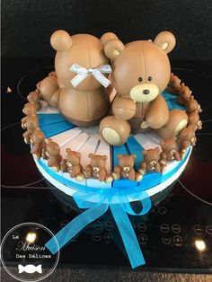 Minis, Centre, Baby Shower, Breakfast, Diy, Collection, Food, Brown Bears, Organza Ribbon