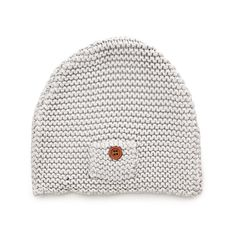 Indigo light grey knit baby hat