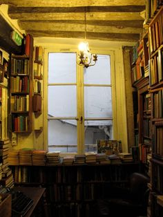 Shakespeare & Company bookstore  I want to go there! Saw it on Craig Ferguson. <3