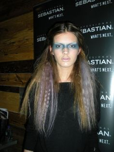 Sebastian Design Team Anthony Cole's look at the Pamela Love Fall '11 fashion show.  Hair wefts colored with Wella Professionals! Read BeautyNewsNYC for more info...