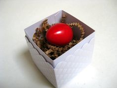 Sweet Pascha gifts!  Perfect for kids' baskets.    Easter Egg With Mini Birds Pascha Egg With Toy by RedQuailDesigns