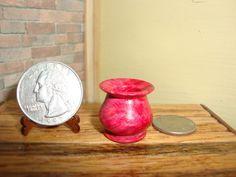 """Gary Lankford, """"Oppi""""  - turned box elder vase dyed magenta; sold on ebay for $9"""