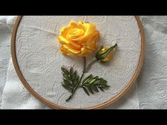 Wonderful Ribbon Embroidery Flowers by Hand Ideas. Enchanting Ribbon Embroidery Flowers by Hand Ideas. Embroidery Designs, Ribbon Embroidery Tutorial, Rose Embroidery, Silk Ribbon Embroidery, Embroidery Stitches, Embroidery Patterns, Embroidery Supplies, Rose Tutorial, Ribbon Work