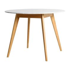 $900 Marble Oia Round Dining Table - 100cm (Solid Oak Base)