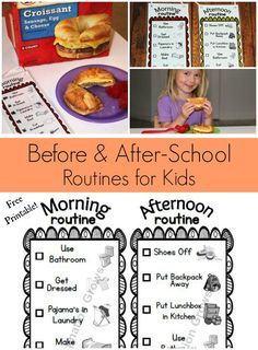 (FREE) Visual Daily Routine Printable for Kids! Before and after school preschool routine to promote independence & easy snack ideas. #fuelforschool #ad #sp