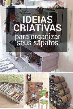 Guardar sapatos no armário pode ocupar muito espaço, ainda mais quando este armário não tem espaço e ficam todos ali uns sobre os outros parecendo sardinha enlatada.