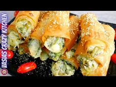 Πατατοπιτακια Νηστισιμα Σπιτικα - Πατατοπιτακια Με Μυρωδικα - Συνταγη Ευκολα Πατατοπιτακια - YouTube Spanakopita, Fresh Rolls, Sushi, Vegan, Ethnic Recipes, Youtube, Food, Essen, Meals