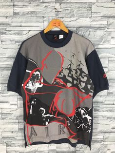53edba67aac038 Vintage AIR JORDAN T shirt Medium Nike Air Jordan Basketball Nba Sports T  shirt Nike Swoosh Graffiti Michael Jordan Tshirt Blue Size M