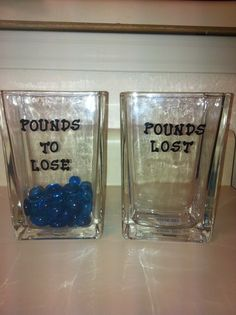 Pounds to lose! Pounds Lost! I can't wait to move my 'pounds' over. This was super cheap to make and since I am so visual its going to help a ton!!!