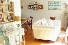 Casinha de Retalhos: Uma sala cottage, na onda da sustentabilidade..