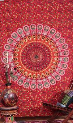 Jocelynn Bohemian Mandala Boho Wall Bed Beach Tapestry
