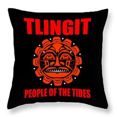 The Tlingit Throw Pillow featuring the digital art Tlingit-people Of The Tides 2 by Otis Porritt