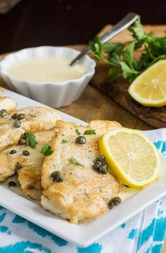 Chicken with Lemon Cream Sauce #chicken #lemon #recipe
