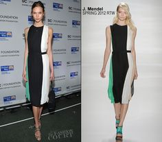 Karlie Kloss in Spring/Summer 2012 J. Mendel at Carnegie Hall for the second night of Jay-Z's concerts to benefit the United Way of New York City and The Shawn Carter Foundation.