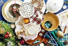Don't blame us when your guests want to linger all night  around a table that's as fun as it is festive. With gorgeous  serveware and spirited decorating tips, it's never been  easier to set just that sort of scene.