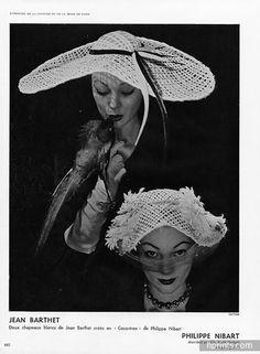 Jean Barthet (Millinery) 1952 Hats