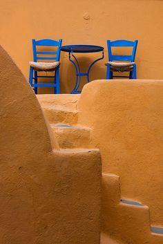 Forgotten Souvenirs..... — secretsofgreece: Table for two… Santorini ...
