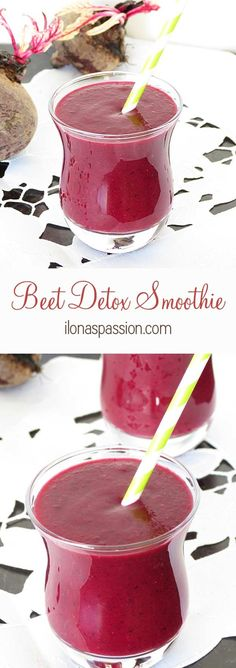 Beet Detox Smoothie | Healthy and Tasty Fat Burning Recipes by DIY Ready at http://diyready.com/weight-loss-smoothies/