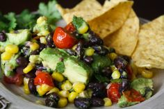 Avocado and Corn Dip with Black Beans