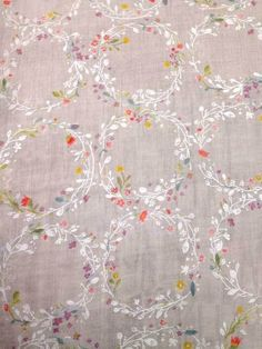 Form and Fabric - Joy Flower Double Gauze, Light Grey, $4.70 (http://www.formandfabric.com/joy-flower-double-gauze-light-grey/)