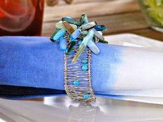 Dans le Lakehouse: DIY Beaded Napkin Rings