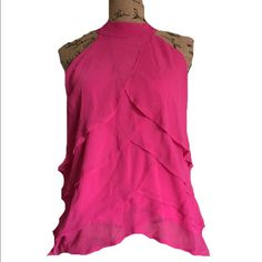 Jonathan Martin tank Beautiful and girly! 100% polyester. Lined! BUNDLES OF 5 OR MORE ITEMS ARE 50% OFF! Tops Tank Tops
