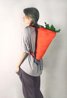 Orange Felt Carrot Backpack by krukrustudio on Etsy 0b6477bf38e11
