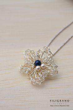 collana di fiori | collana | Filigrano | per corrispondenza a mano e le vendite Creema