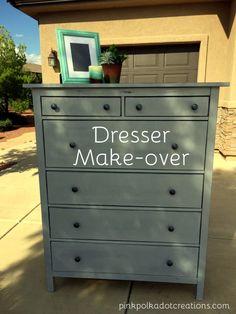 dresser makeover.  F