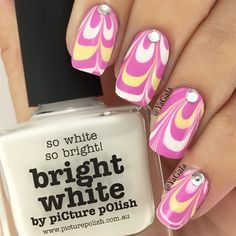 Water Marble Design  by Yagala from Nail Art Gallery
