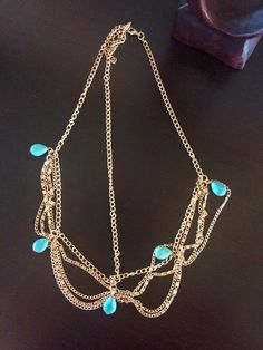 Bohemian gold hair jewelry, Egyptian head chain or head band with turquoise beads, adjustable for any size by TimelessBohoTrinkets on Etsy https://www.etsy.com/listing/264667526/bohemian-gold-hair-jewelry-egyptian-head
